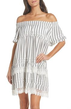 35b72a3026c59 Free shipping and returns on Surf Gypsy Off the Shoulder Cover-Up Dress at  Nordstrom