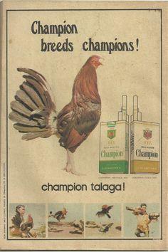 Champion Cigarrette ad at Romantic Klasiks Magazine. June 16, 1975c