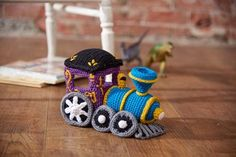 Crochet this Train Engine Pattern - first pattern in a four part series (affiliate link)