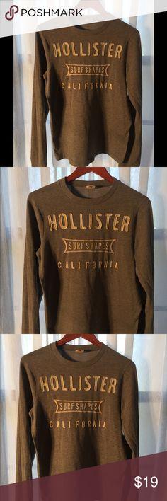 Hollister long sleeve gray shirt size M Long sleeve young men's Hollister gray shirt size M. Hollister Shirts