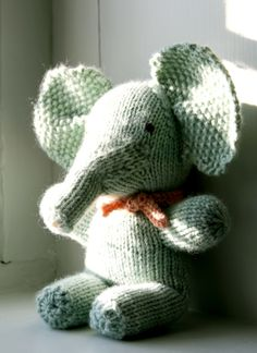 Handmade Baby Elephants from Last-Minute Knitted Gifts & Last-Minute Patchwork + Quilted Gifts!  - Knitting Crochet Sewing Crafts Patterns and Ideas! - the purl bee