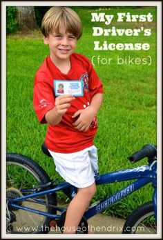 Kid's Driver's License and Test (for bikes) - love it!