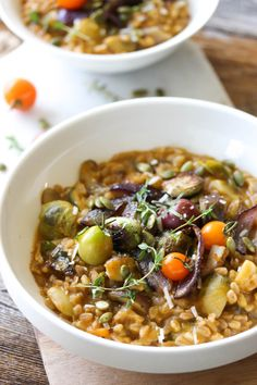 One Pot Autumn Vegetable Farrotto