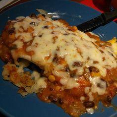 Vegetarian green chile breakfast burrito #instagram