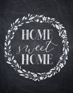 Home Sweet Home Chalkboard Print vertical by AmyRogstad on Etsy