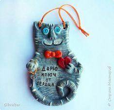 Поделка изделие Лепка Дарю ключ от сердца Тесто соленое фото 4