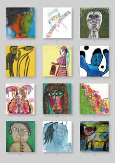The artists of challenge 176 Naive Art, Outsider Art, Folk Art, The Outsiders, Presents, Challenges, Artists, Artwork, Cards