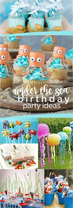 23 Enchanting Under the Sea Party Ideas (winter luau party) Animal Birthday, 1st Boy Birthday, Mermaid Birthday, Boy Birthday Parties, Birthday Ideas, Birthday Cakes, Whale Birthday, Winter Birthday, Party Animals