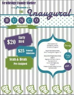 Bunco Fundraiser Flyer  Google Search  Bunco Party