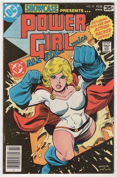 Showcase - DC Comics - origin of my favorite Power Girl by Joe (E-Man) Staton Dc Comics, Star Comics, Batman Comics, Dc Comic Books, Comic Book Covers, Comic Art, Birds Of Prey, Power Girl Comics, Power Girl Dc