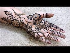 Karwachauth Special Floral Mehndi Design for Hand 2018 Basic Mehndi Designs, Indian Mehndi Designs, Stylish Mehndi Designs, Mehndi Designs For Girls, Mehndi Designs For Beginners, Wedding Mehndi Designs, Mehndi Designs For Fingers, Latest Mehndi Designs, Mehandi Designs