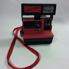 VINTAGE Polaroid COOL CAM Red/Black 600 Film Instant Camera UK MADE-TESTED/WORKS #Polaroid