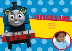 Thomas the train invites bday partys pinterest trem thomas thomas the train personalized invitations pronofoot35fo Gallery