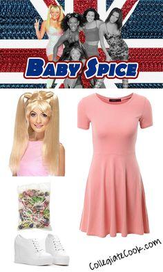 5d7ed61049 Baby Spice Costume - Collegiate Cook