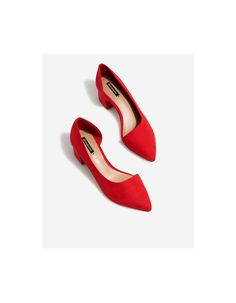 Red asymmetric court shoes - Jewellery | Stradivarius Romania
