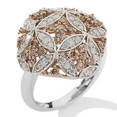 Love this vintage-inspired diamond piece.  The champagne color is dreamy. #jewelry #diamonds #rings