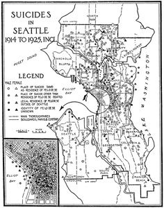 Suicides in Seattle 1914 to 1925 (1928)