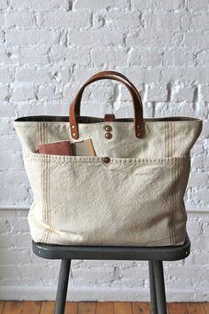 1920's era Farm Feed Sack Pocket Tote - FORESTBOUND - A responsive Shopify theme