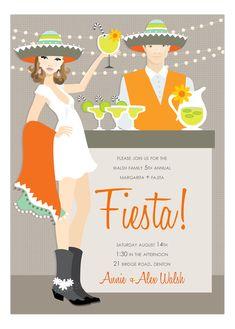 Brunette Fiesta Invitation #Fiesta #Party