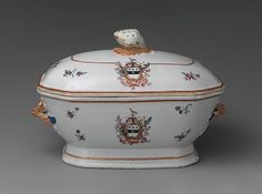 Soup Tureen, circa 1785-90, Chinese made for American market--porcelain