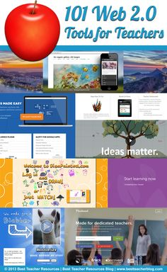 101 Web 2.0 Tools Every Teacher Should Know About  http://bestteacherblog.com/101-web-2-0-tools-every-teacher-should-know-about/