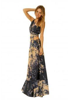 Shop the Mika Skirt in Navy Fur! #ramonalarue #bohemianstyle #print #maxiskirt #skirt #navy #fur #clothing #fashion #shopmiami #madeinmiami #bottoms #boutique #designer