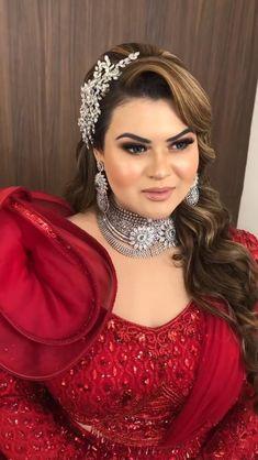 Bridal Makeup Looks, Bridal Looks, Bridal Style, Wedding Dresses For Girls, Colored Wedding Dresses, Bridal Outfits, Bridal Dresses, Pakistani Bridal Makeup, Indian Wedding Bride