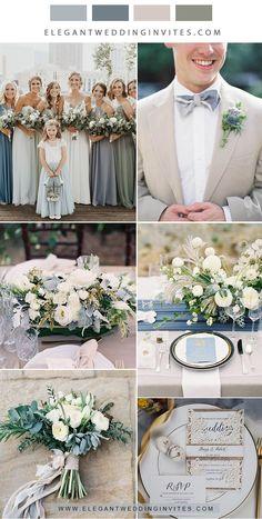 romantic shades of blue and sage green neetral garden wedding colors Taupe Wedding, Wedding Color Pallet, Neutral Wedding Colors, Summer Wedding Colors, Wedding Color Schemes, Dream Wedding, Wedding Shit, Wedding Ideas, Wedding Things