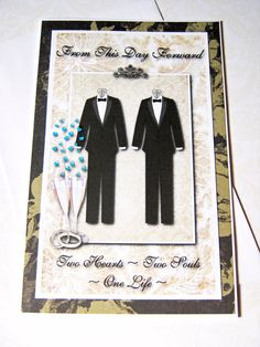 Wedding Card Same sex marriage Mr. & Mr. Gay by littledebskis