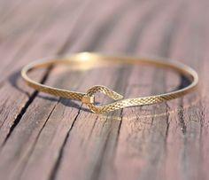 Gold Wire Bracelet <3