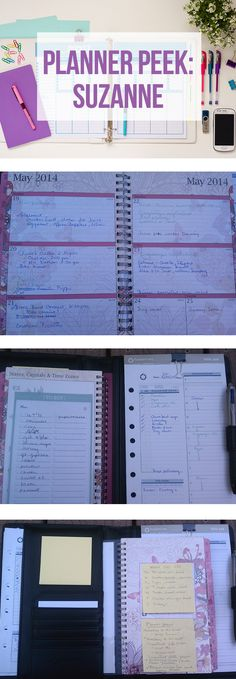 Take a  tour of Suzanne's planner!