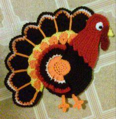 Check out this item in my Etsy shop https://www.etsy.com/listing/257719100/crochet-tom-theturkey-potholder-pattern