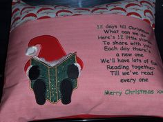 Days Till Christmas, Christmas Countdown, Christmas Elf, Reading Pillow, Santa Sleigh, Little Ones, Advent, Color Schemes, Special Occasion