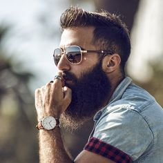 That is some serious beard style. Love it!
