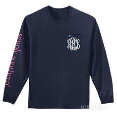 Monogrammed Sea Logo Long Sleeve T-Shirt
