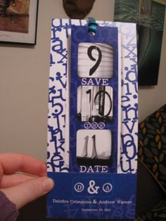 Doesn't have to be as involved as this one, but I like the idea of a bookmark