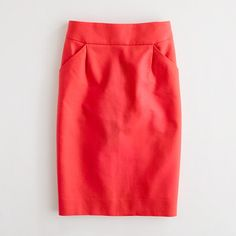 J.Crew Factory pencil skirt in double-serge cotton