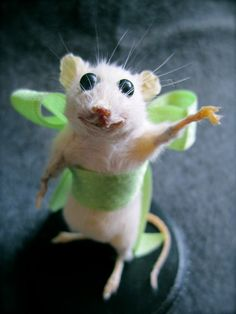 Emiline the Taxidermy Mouse  Anthropomorphic by SilverRabbitCo on Etsy, $60.00