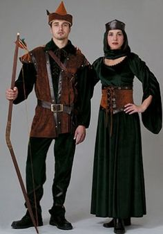 Couple Costumes of Robin Hood and Maid Marian  http://peachesandcream.hubpages.com/hub/robinhoodmaidmariancouplescostumes