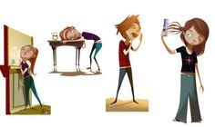 Kids Character by Juan Francisco Cancelleri, via Behance