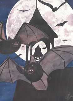 Got Bats Painting by Catherine G McElroy - Got Bats Fine Art Prints and Posters for Sale