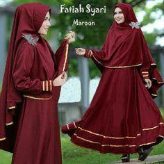 Baju Muslim Gamis Syar'i Fathiah Maroon - http://warongmuslim.com/baju-muslim-gamis-syari-fathiah-maroon.html