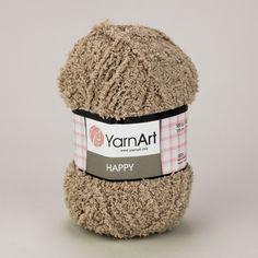Pletací příze YarnArt HAPPY 781 světle hnědá, fantasy 100g/175m Knitted Hats, Winter Hats, Fantasy, Knitting, Tricot, Breien, Stricken, Weaving, Fantasy Books