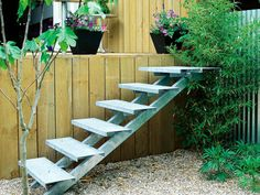 12 Landscaping Ideas for Stairs --> http://www.hgtvgardens.com/photos/landscape-and-hardscape-photos/step-it-up-design-ideas-for-landscaping-stairs?s=4=pinterest