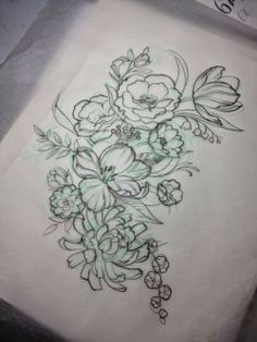 arestlessidealism: I received the preliminary sketch for my tattoo. It's to be a bit of a shoulder cap, stopping before the collar bone and ending high on my upper arm. It will be done in an almost transparent watercolor palette of purples, yellows, and blues. The final product will have a more pronounced vintage botanical sketch feel.