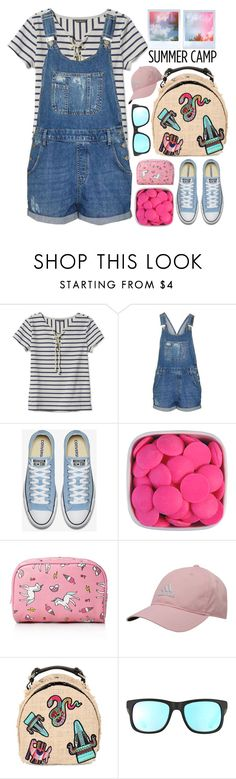 """""""Summer Camp!!!!!"""" by karineminzonwilson ❤ liked on Polyvore featuring L.L.Bean, Topshop, Forever 21, adidas, MSGM, Ray-Ban, summercamp and 60secondstyle"""
