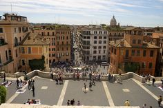View From The Spanish Steps, via Flickr.