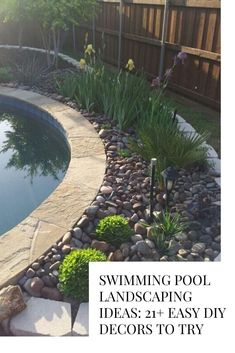 Backyard Landscape Around Pool.We Don't Plant Certain Trees In Las Vegas Landscaping. Chill Zone: Outdoor Entertaining Space Hearth Home . Minimalist Backyard Garden Design With A Waterfall . Home and furniture ideas is here Landscaping Around Pool, Swimming Pool Landscaping, Landscaping With Rocks, Front Yard Landscaping, Landscaping Ideas, Plants Around Pool, Pool Plants, Swimming Pools, Landscaping Shrubs