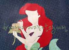 READY TO SHIP: Paper Princess Ariel (with flower). I just realized, these are kind of creepy without faces...