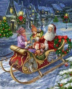 Christmas Scenes, Christmas Past, Christmas Pictures, Christmas Snowman, Christmas Crafts, Christmas Decorations, Vintage Christmas Cards, Retro Christmas, Santa Pictures